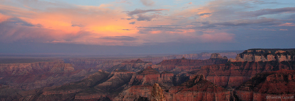 Grand Canyon at sunset; copyright David W. Lazaroff
